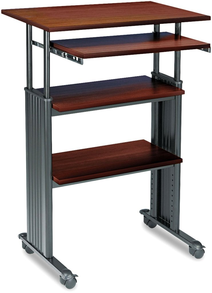 stand up desk safco products muv stand up adjustable height computer workstation ergonomics fix. Black Bedroom Furniture Sets. Home Design Ideas