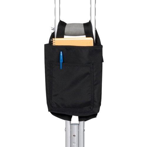 Hip Surgery Recovery Gift Black Vinyl Crutch Bag