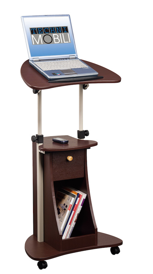 stand up desk rolling laptop cart with storage ergonomics fix. Black Bedroom Furniture Sets. Home Design Ideas